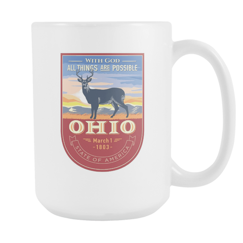 Ohio - 15oz Coffee Mug (3 Versions) - Nana The Noodle
