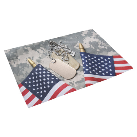 "Flags & Dog Tags Doormat 30"" x 18"""