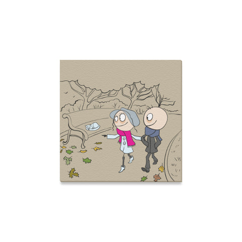 "Cute Couple Canvas Print 8"" X 8"" (6 Designs) - Nana The Noodle"