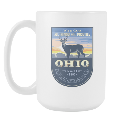 Ohio - 15oz Coffee Mug (3 Versions)