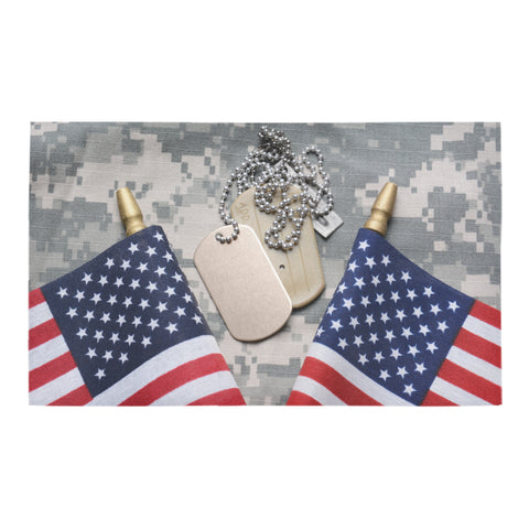 Flags & Dog Tags Doormat 30