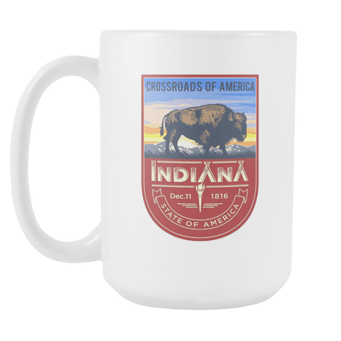 Indiana - 15oz Coffee Mug (2 Versions) - Nana The Noodle