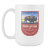 Image of Indiana - 15oz Coffee Mug (2 Versions) - Nana The Noodle