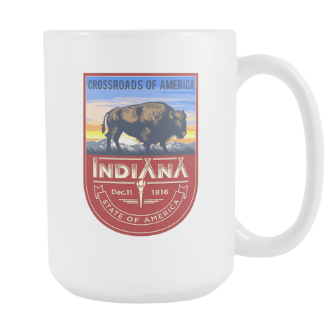 Indiana - 15oz Coffee Mug (2 Versions)