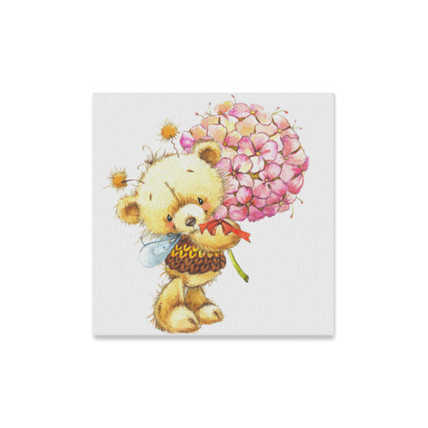 "Teddy Bear Canvas Print 16"" X 16"" (5 Designs) - Nana The Noodle"