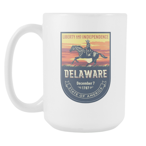 Delaware - 15oz Coffee Mug (3 Versions) - Nana The Noodle