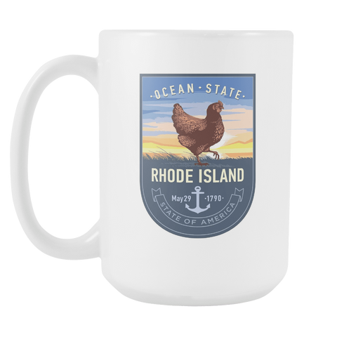 Rhode Island - 15oz Coffee Mug (3 Versions)