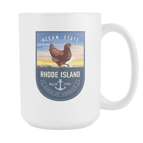 Rhode Island - 15oz Coffee Mug (3 Versions) - Nana The Noodle