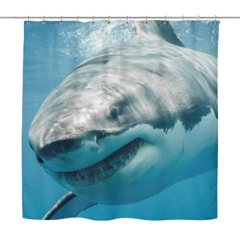 Great White Shark Shower Curtain - Nana The Noodle