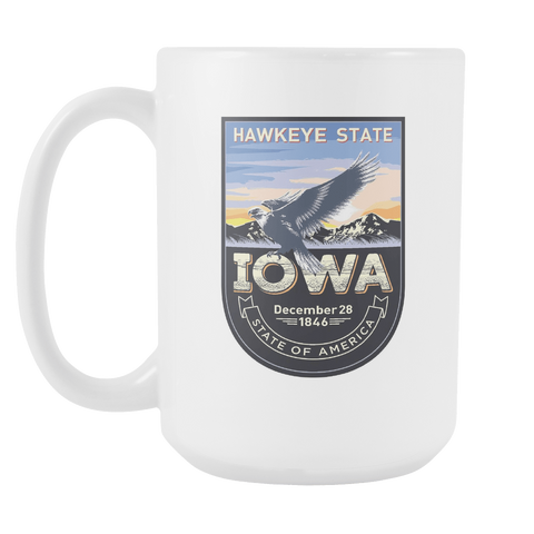 Iowa - 15oz Coffee Mug (4 Versions)