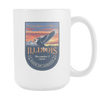 Image of Illinois - 15oz Coffee Mug (3 Versions) - Nana The Noodle