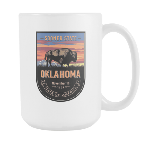 Oklahoma - 15oz Coffee Mug (4 Versions) - Nana The Noodle