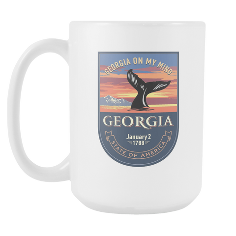 Georgia - 15oz Coffee Mug (3 Versions) - Nana The Noodle