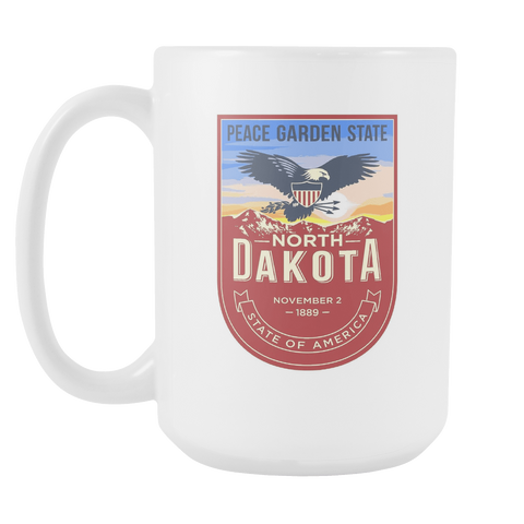 North Dakota - 15oz Coffee Mug (3 Versions) - Nana The Noodle