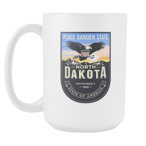 North Dakota - 15oz Coffee Mug (3 Versions)