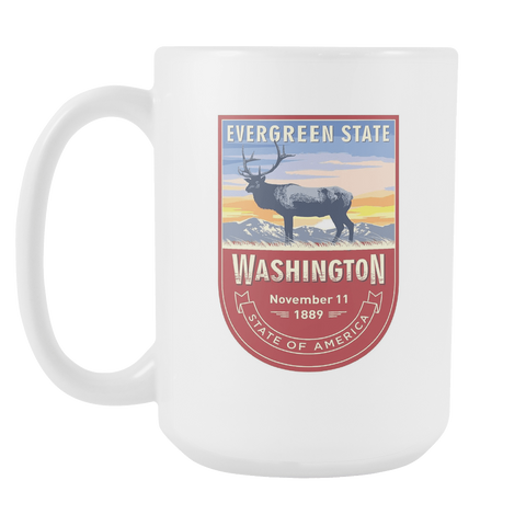 Washington DC - 15oz Coffee Mug (3 Versions) - Nana The Noodle
