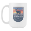 Image of Nebraska - 15oz Coffee Mug (3 Versions) - Nana The Noodle