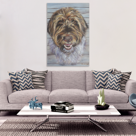 Terrier in Pastels -  Canvas Art Print (4 Sizes)