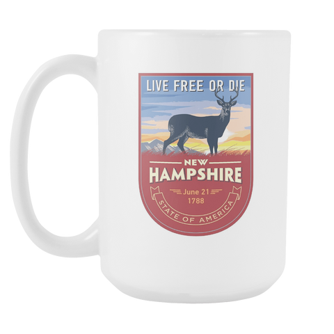 New Hampshire - 15oz Coffee Mug (3 Versions) - Nana The Noodle