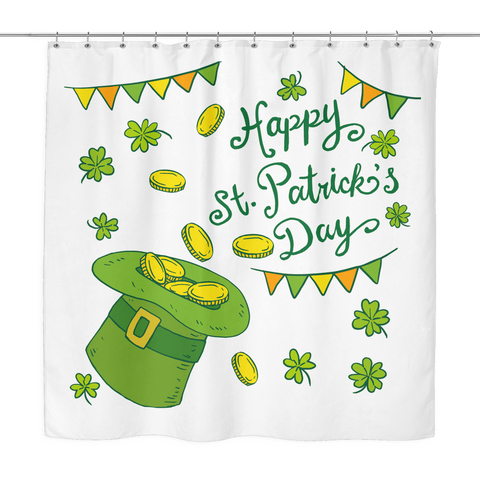Happy St. Patrick's Day - Shower Curtain - Nana The Noodle