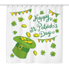 Image of Happy St. Patrick's Day - Shower Curtain - Nana The Noodle