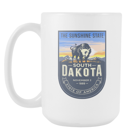 South Dakota - 15oz Coffee Mug (4 Versions)