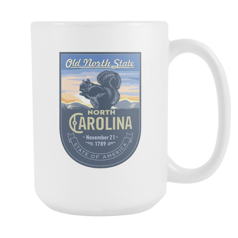 North Carolina - 15oz Coffee Mug (3 Versions) - Nana The Noodle