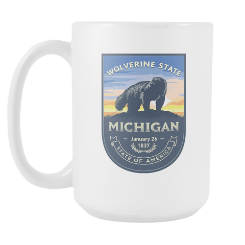 Michigan - 15oz Coffee Mug (3 Versions)