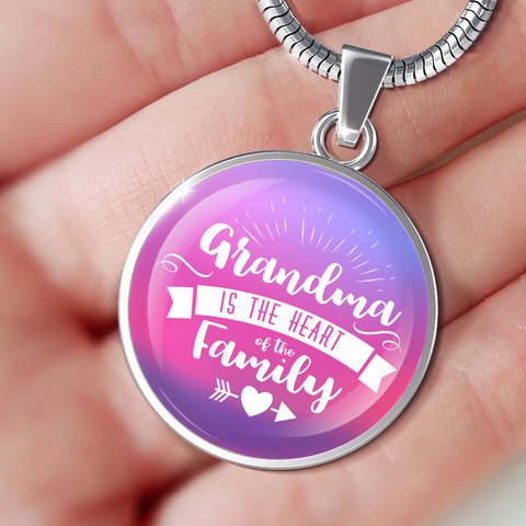 Grandma Is The Heart Of The Family (Necklace, Bracelet or Bangle)