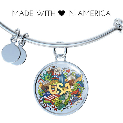 USA (Necklace, Bracelet or Bangle)