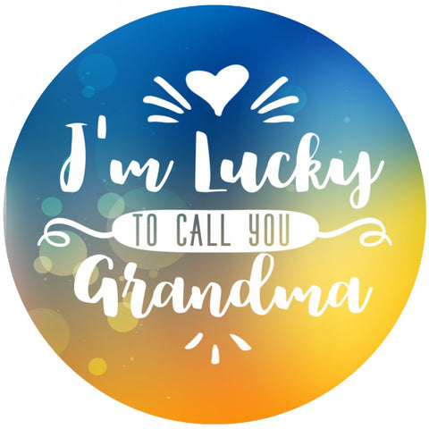 I'm Lucky to Call You Grandma (Necklace, Bracelet or Bangle) - Nana The Noodle