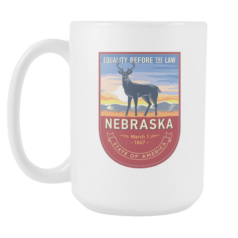 Nebraska - 15oz Coffee Mug (3 Versions) - Nana The Noodle