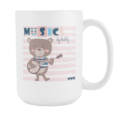 Cute Teddy Bear 15oz Coffee Mugs (5 Styles) - Nana The Noodle