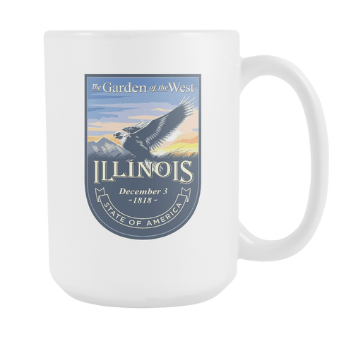 Illinois - 15oz Coffee Mug (3 Versions) - Nana The Noodle