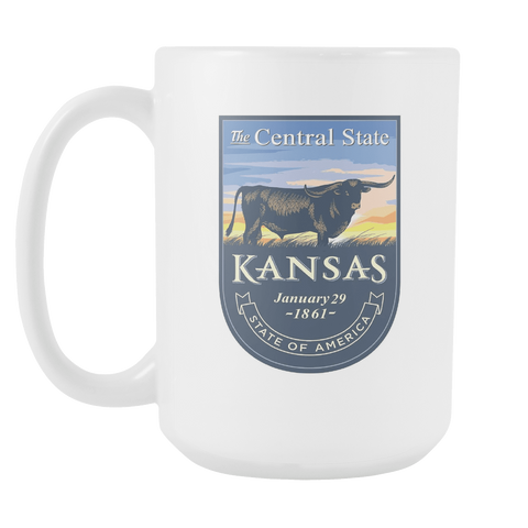 Kansas - 15oz Coffee Mug (3 Versions)