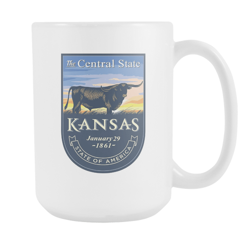 Kansas - 15oz Coffee Mug (3 Versions) - Nana The Noodle