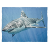 Image of Great White Shark - Plush Blanket - Nana The Noodle