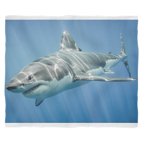 Great White Shark - Plush Blanket - Nana The Noodle