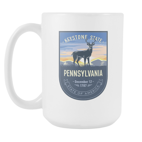 Pennsylvania - 15oz Coffee Mug (3 Versions)