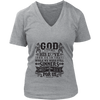 Image of God Shows His Love For Us - Ladies V-Neck T-Shirt (3 colors) - Nana The Noodle