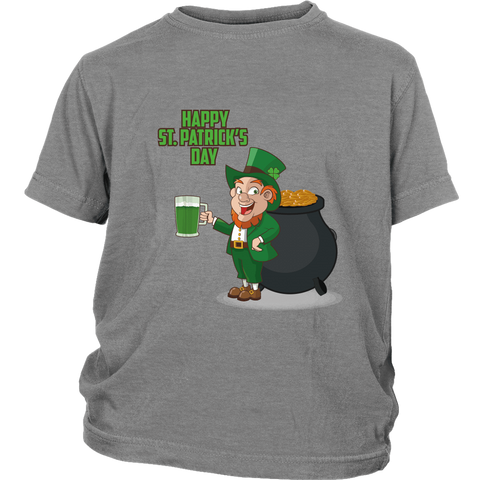 Happy St. Patrick's Day - Unisex Youth T-Shirt (3 colors) - Nana The Noodle