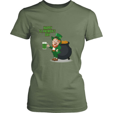 Happy St. Patrick's Day - Ladies T-Shirt (3 colors) - Nana The Noodle