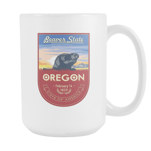 Oregon - 15oz Coffee Mug (3 Versions) - Nana The Noodle