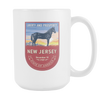Image of New Jersey - 15oz Coffee Mug (3 Versions) - Nana The Noodle