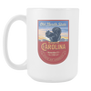 Image of North Carolina - 15oz Coffee Mug (3 Versions) - Nana The Noodle