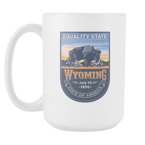 Wyoming - 15oz Coffee Mug (3 Versions)