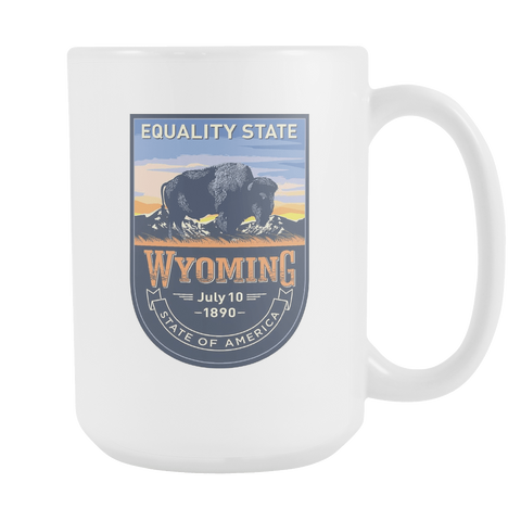 Wyoming - 15oz Coffee Mug (3 Versions) - Nana The Noodle