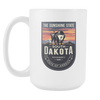 Image of South Dakota - 15oz Coffee Mug (4 Versions) - Nana The Noodle