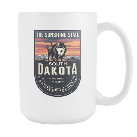 South Dakota - 15oz Coffee Mug (4 Versions) - Nana The Noodle