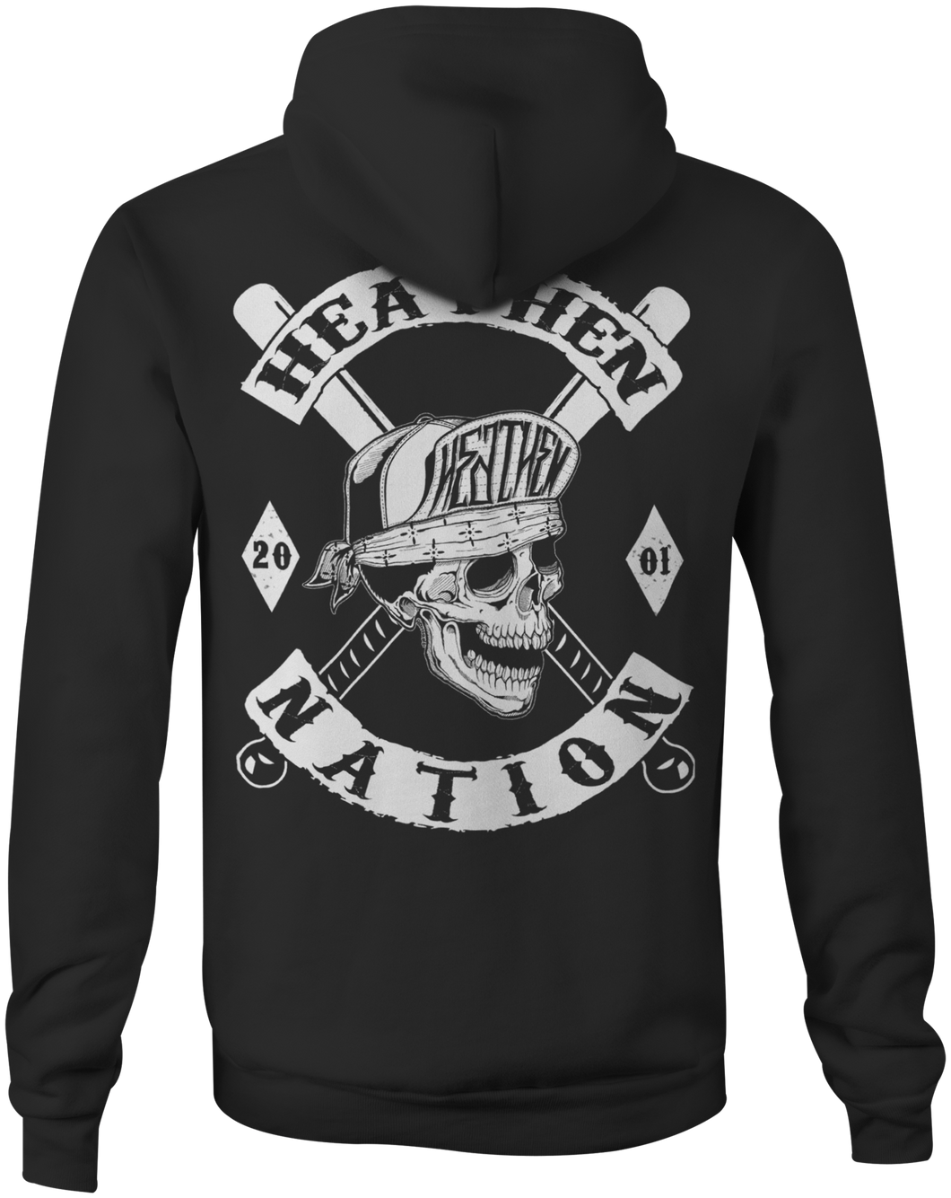 Men's Heathen Nation Zip Up Hoody